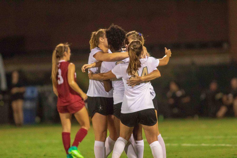 Vanderbilt+Women%27s+Soccer+team+beats+Alabama+at+home%2C+3-2.+Sep+20%2C+2018.+Photo+by+Madison+Lindeman.