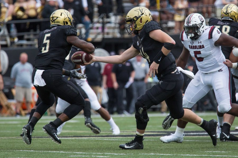 The+Commodores+play+South+Carolina+in+their+first+SEC+football+matchup+of+the+season+on+Saturday%2C+September+22%2C+2018.+Vanderbilt+lost+37-14+at+home.+%28Photo+by+Claire+Barnett%29