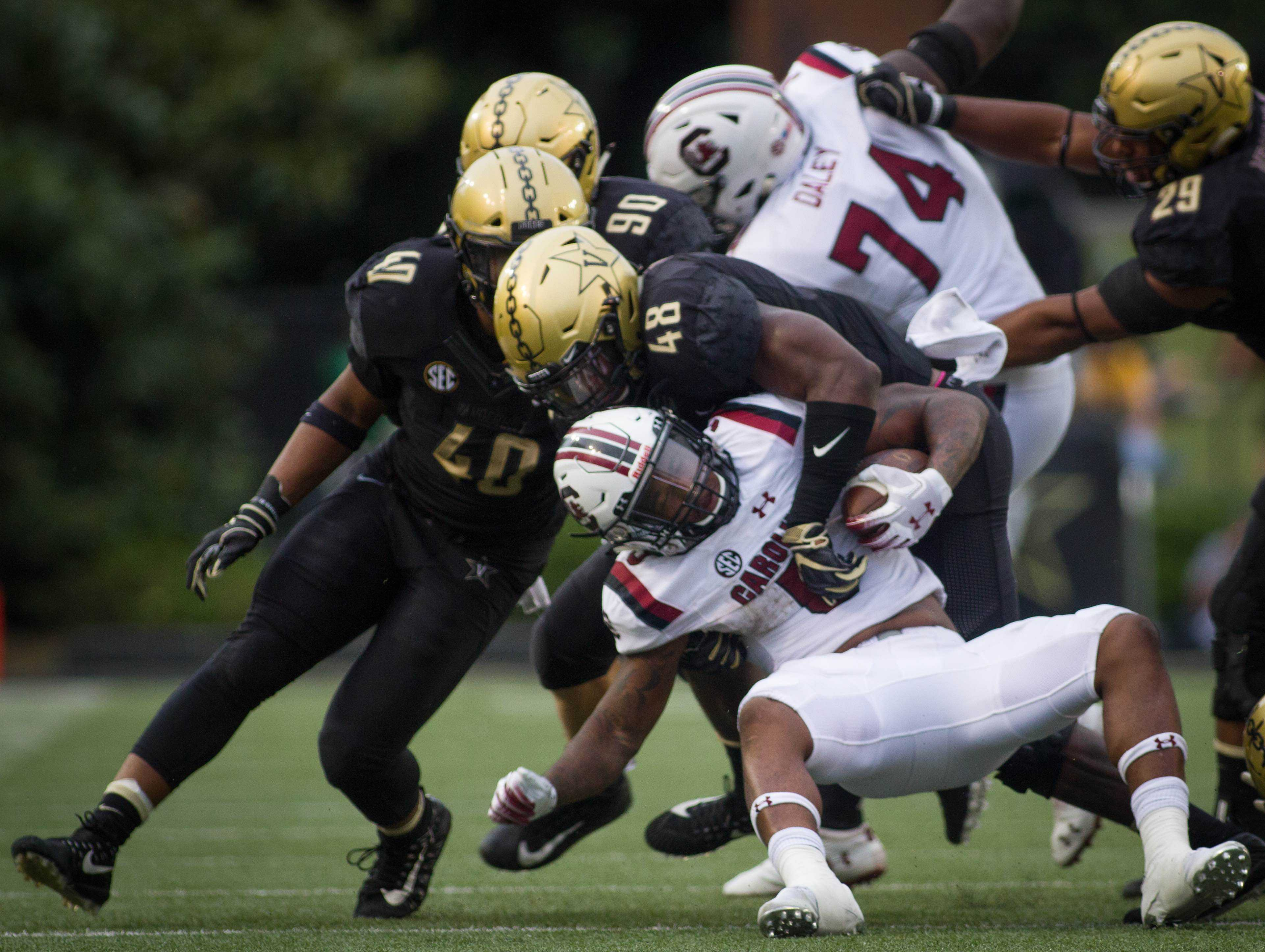 Vanderbilt plays South Carolina on Saturday, September 22, 2018. (Photo by Hunter Long)