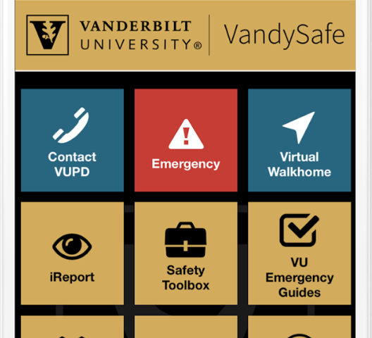 Vanderbilt replaces SafeVU app with VandySafe to solve software problems and add additional features