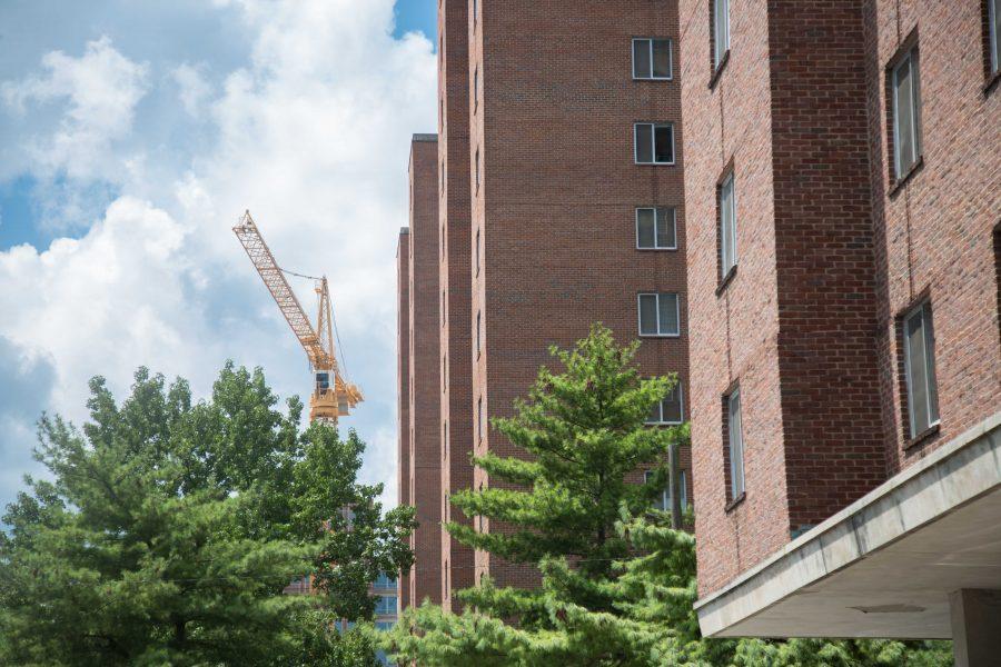 Vanderbilt Towers with Construction Crane