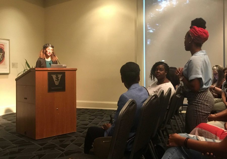 Elaine Welteroth, former Teen Vogue Editor-in-Chief, speaks to Vanderbilt women on the importance of accidental activism