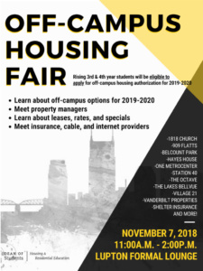 Off-Campus Housing Fair Flyer
