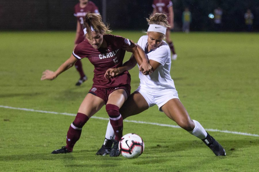 Vanderbilt soccer plays the USC gamecocks on Friday, October 12, 2018. The final score after double overtime was 0-0. (Photo by Claire Barnett)