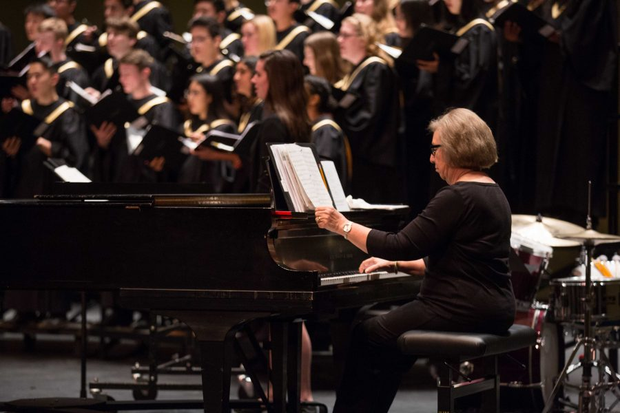 VU Concert Choir holds their fall concert in Ingram Hall on Sunday, October 28, 2018. (Photo by Claire Barnett)