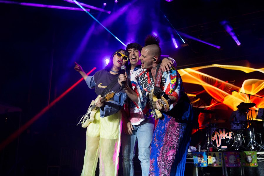 DNCE performs at Rites of Spring 2018 on Alumni Lawn on Friday, April 20, 2018. (Photo by Claire Barnett)