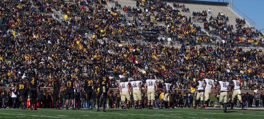 Vanderbilt football loses 28-33 at Mizzou on Saturday, November 10, 2018. Photo by Madison Lindeman.
