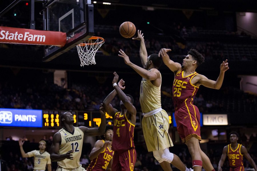 Vanderbilt plays the University of Southern California in basketball on Sunday, November 19, 2017. (Photo by Claire Barnett)