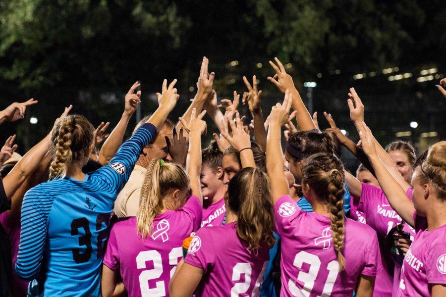 Vanderbilt Soccer defeats Mississippi State 1-0 on Thursday, October 4, 2018. (Photo by Emily Gonçalves)