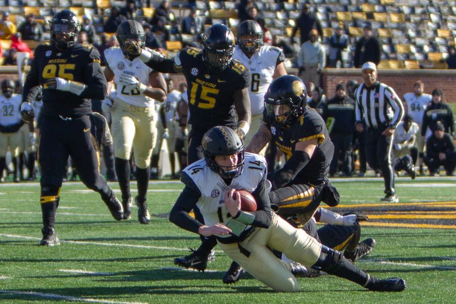 Vanderbilt football loses 28-33 at Mizzou on Saturday, November 10, 2018. Photo by Madison Lindeman.