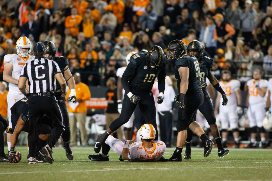 Vanderbilt Playes Tennessee for Bowl eligibility on Saturday, Nov. 24, 2018. (Photo by Hunter Long)