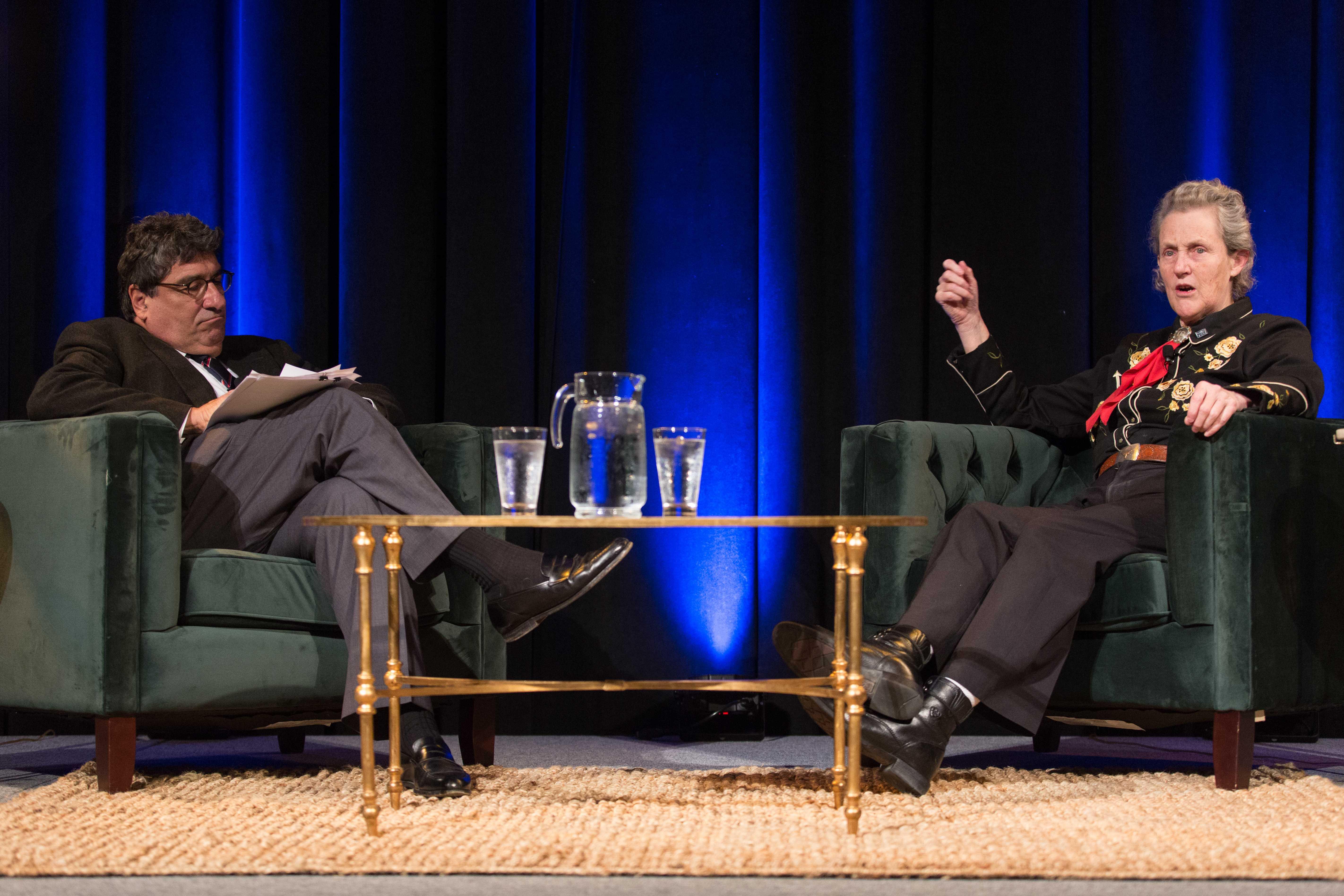 Temple Grandin visits Vanderbilt for the Chancellor's Lecture Series on Thursday, November 29, 2018. (Photo by Claire Barnett)