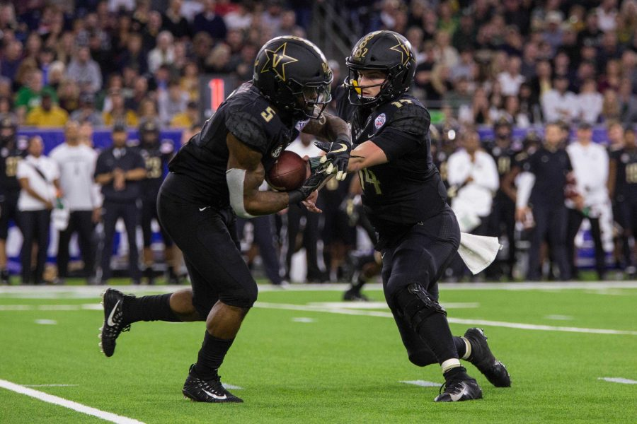 Vanderbilt plays Baylor in the Texas Bowl at NRG Stadium in Houston, Texas on Thursday, December 27, 2018. (Photo by Claire Barnett)