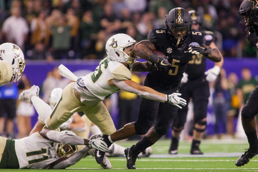 Vanderbilt plays Baylor in the Texas Bowl at NRG Stadium in Houston, Texas on Thursday, December 27, 2018. (Photo by Claire Barnett)
