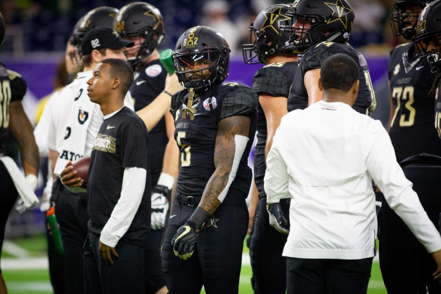 Vanderbilt plays Baylor in the Academy Sports and Outdoors Texas Bowl on December 27, 2018, in Houston, Texas. Photo by Hunter Long.