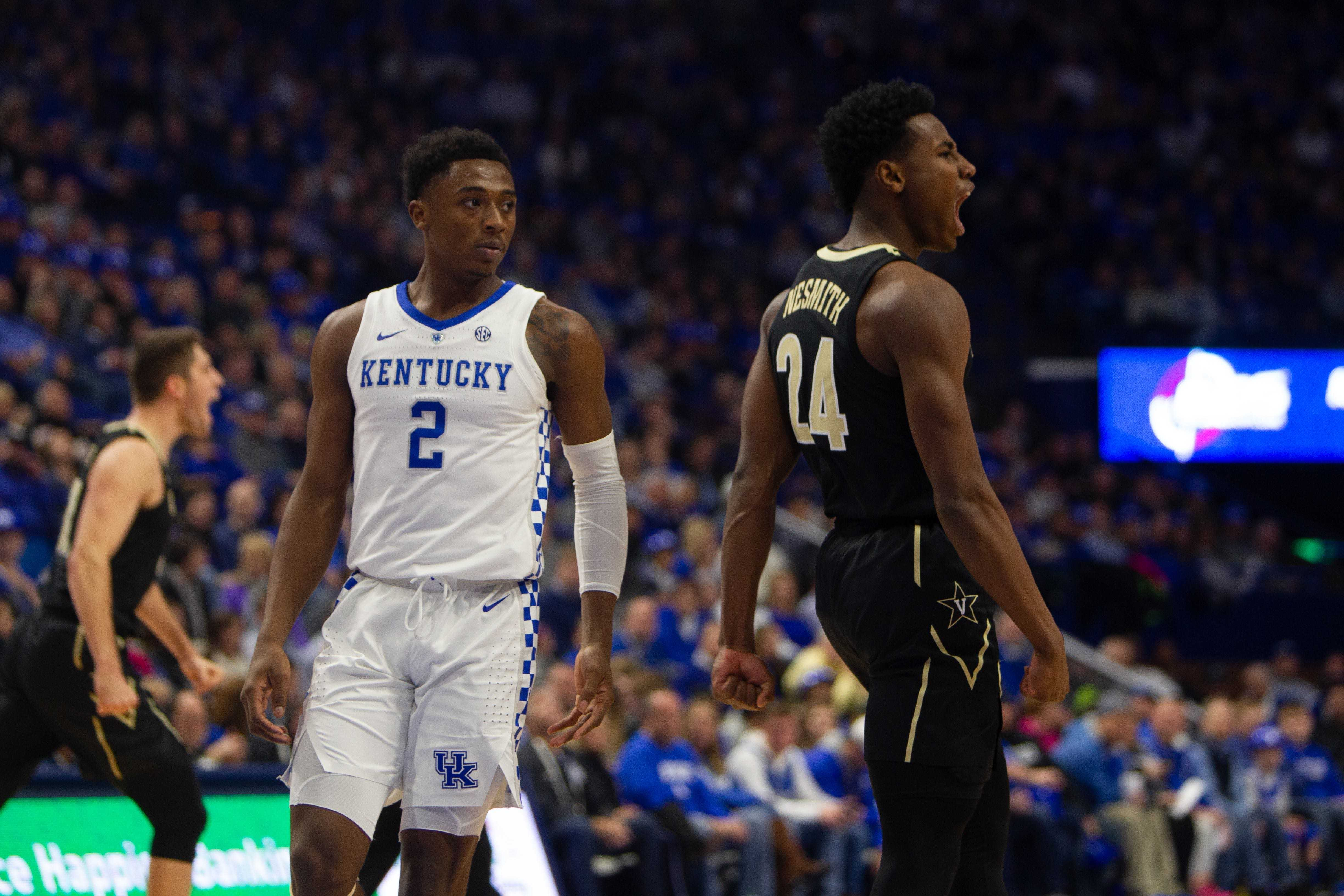 Vanderbilt loses first half lead, falls to Kentucky at Rupp Arena