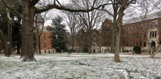 snow at Vanderbilt