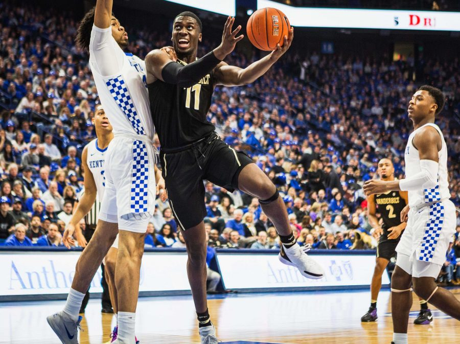 Vanderbilt Plays Kentucky at Rupp arena on Saturday, January 12, 2019. (Photo by Hunter Long)