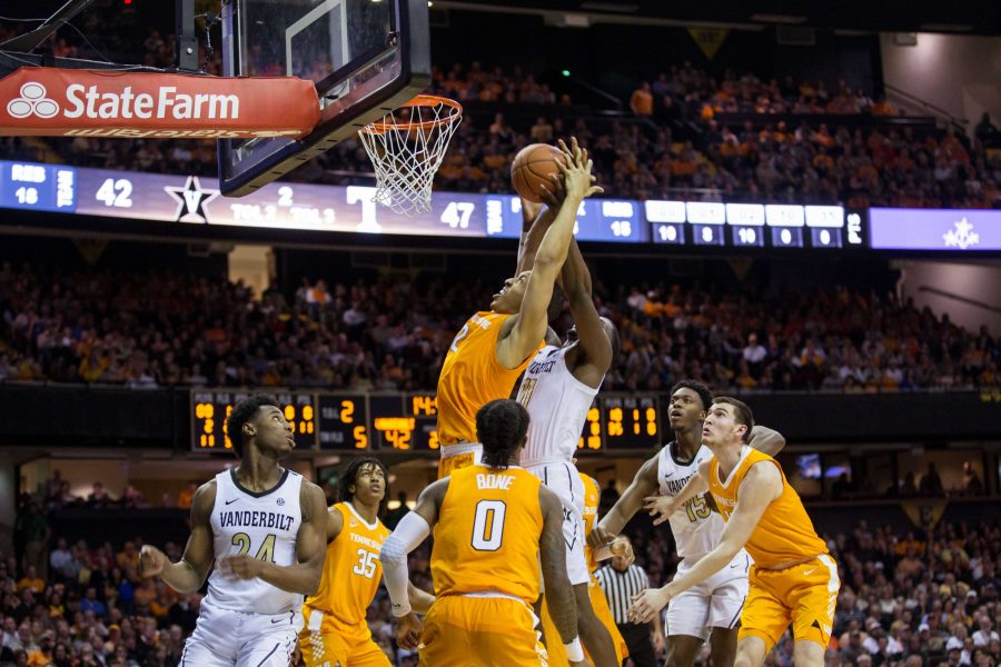 The Tennessee Volunteers beat the Commodores 88-83 after going into overtime at Memorial Gym on Wednesday, January 23, 2019. (Photo by Emily Gonçalves)