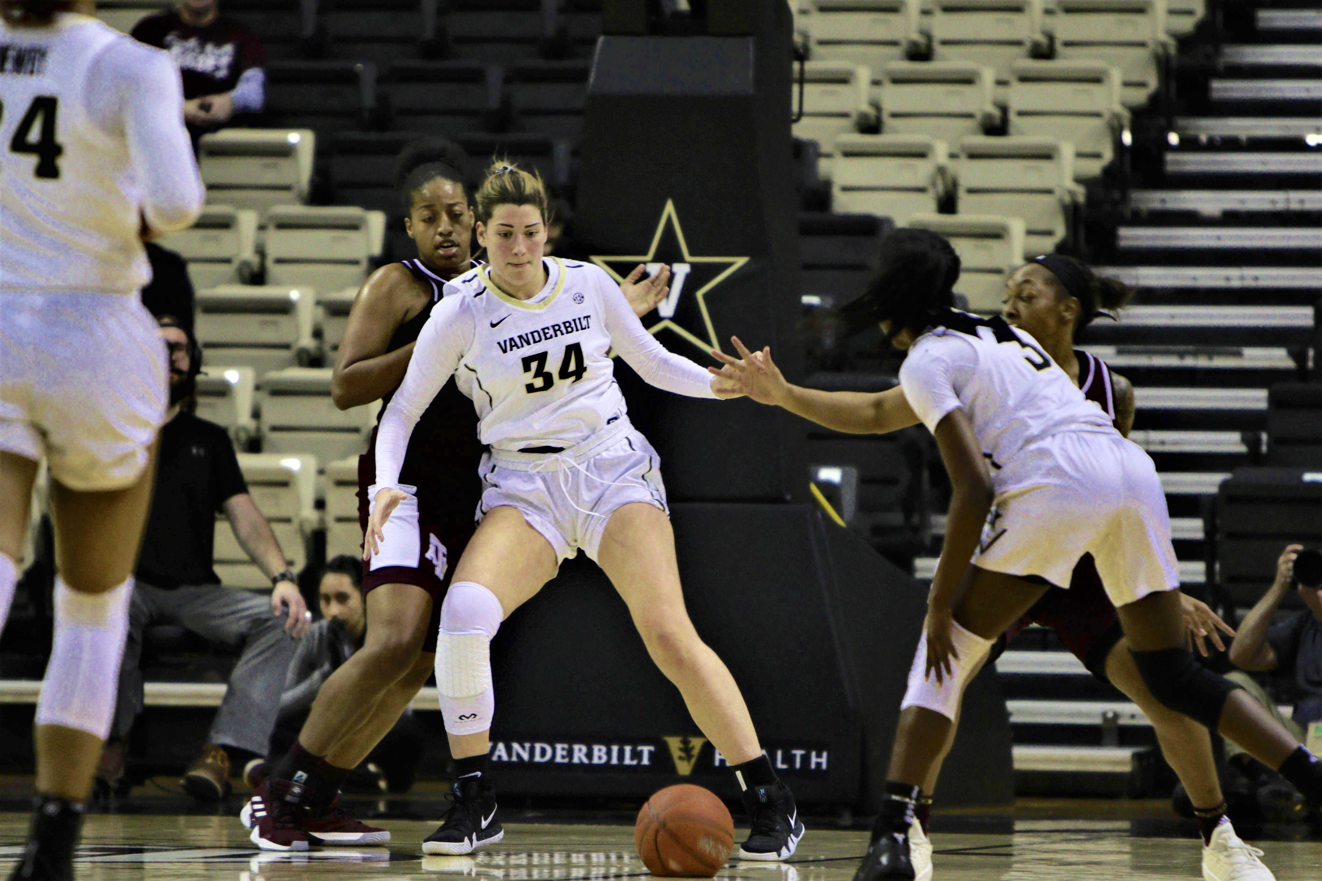 Vanderbilt faces Texas A&M on January 10, 2019. Photo by Shun Ahmed