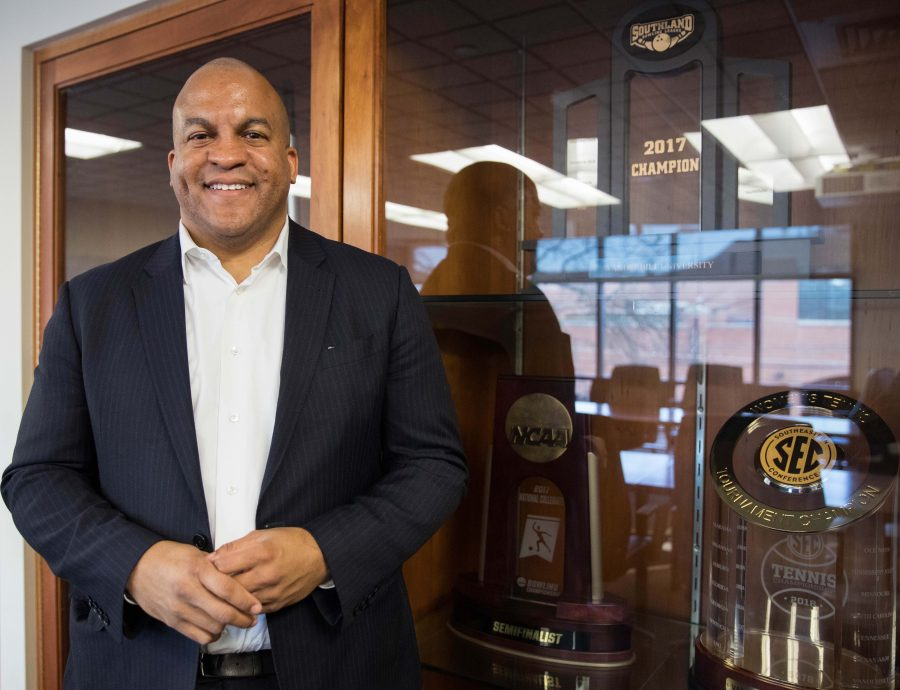 Malcolm Turner poses during his first day as Vanderbilt Athletic Director on Friday, February 1, 2019.