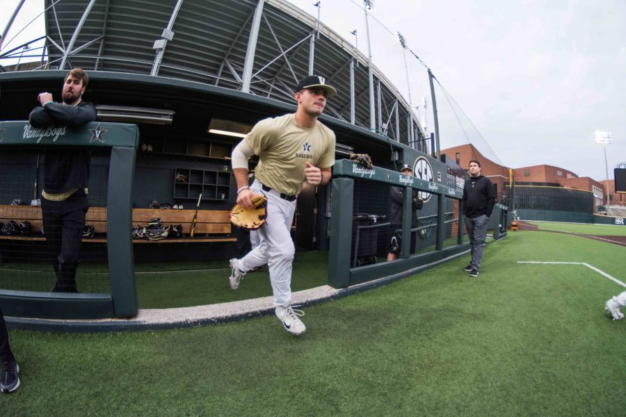 Vanderbilt Baseball prepares for the upcoming season on Tuesday, February 5th, 2019. (Photo by Brent Szklaruk)