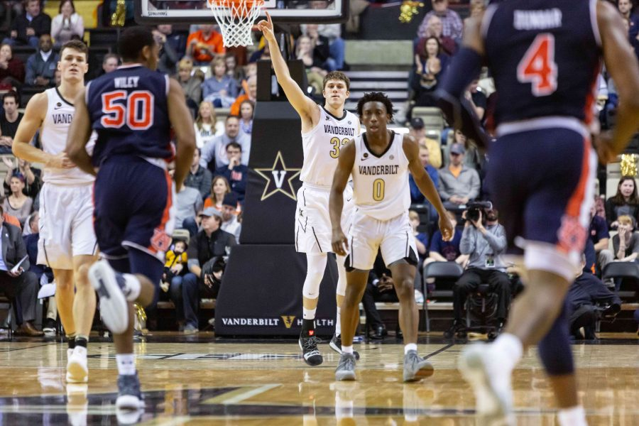 Vanderbilt Plays Auburn in Men's Basketball on Saturday, February 16, 2019. (Photo by Hunter Long)