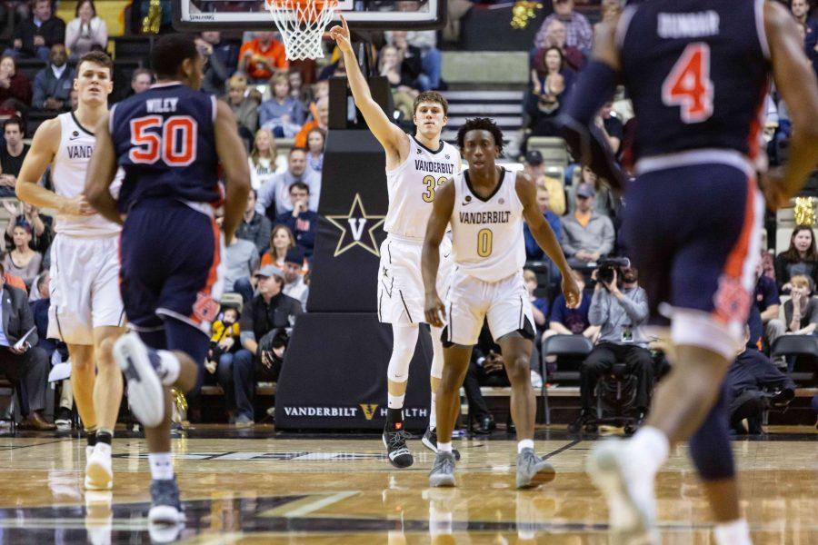 Vanderbilt Plays Auburn in Men's Basketball on Saturday, February 16, 2019. (Photo by Hunter Long)