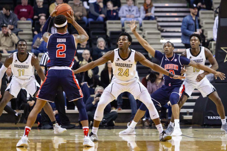 Vanderbilt Plays Auburn in Mens Basketball on Saturday, February 16, 2019. (Photo by Hunter Long)