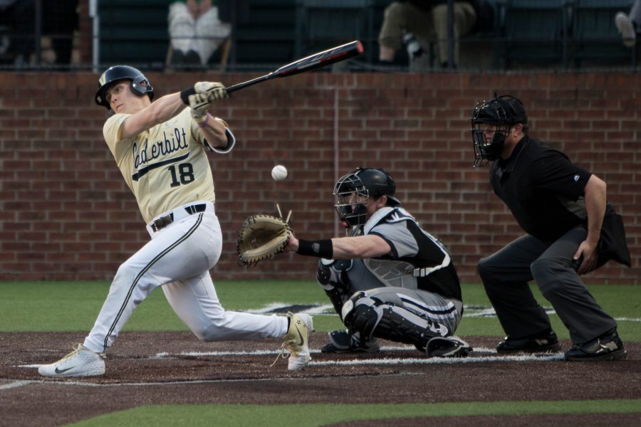 The Vandy Boys beat Southeast Missouri State 11-3 on Tuesday, February, 26, 2019. (Photo by Emily Gonçalves)