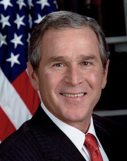 White House photo portrait, 2001. Photo by Eric Draper.