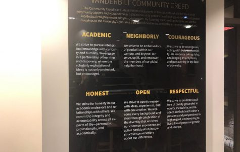 Vanderbilt adopts new community creed, based on acronym ANCHOR