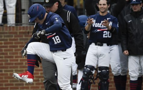 Commodores stomping on home plate, trampling their opponents