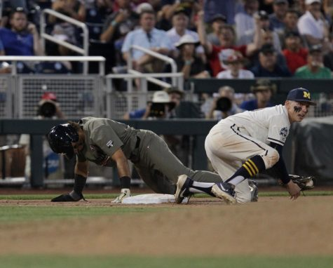 Michigan defeats Vanderbilt 7-4 in Game One of College World Series Final
