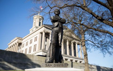 A statue of Sam Davis, the so-called