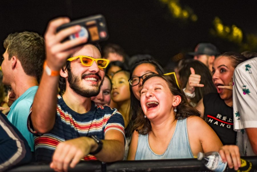 Attendees experience the 2019 Lights on the Lawn concert. (Hustler Multimedia/Jenny Gao)