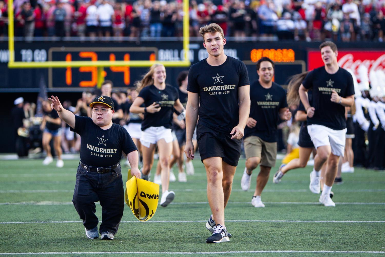 Anchor+Dash+2019+kicks+off+the+football+game+against+Georgia+on+Saturday%2C+Aug.+31.+%28Photo+by+Hunter+Long%29