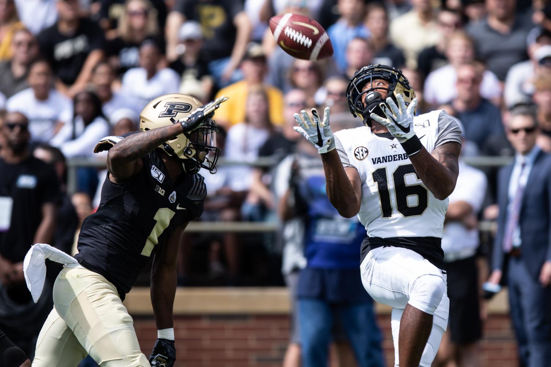 Vanderbilt falls 42-24 at Purdue on September 14, 2019. Photo by Hunter Long