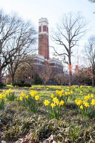 Kirkland Hall is home to Vanderbilt administration. (Former Hustler Multimedia/Emily Gonçalves)