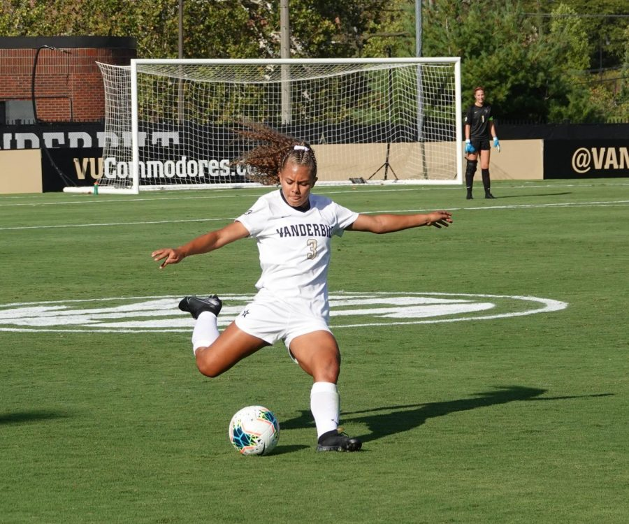 Vanderbilt's Woman's Soccer team defeated UT on Sunday, Sept.22. Vanderbilt wins 1-0.