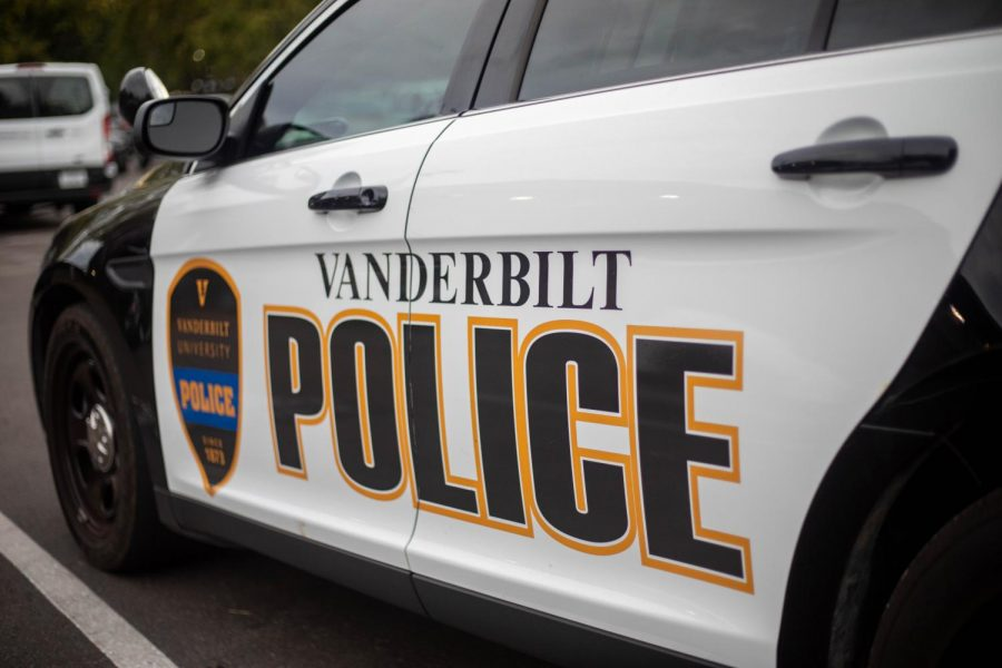 A Vanderbilt University Police Department cruiser. (Hustler Staff)