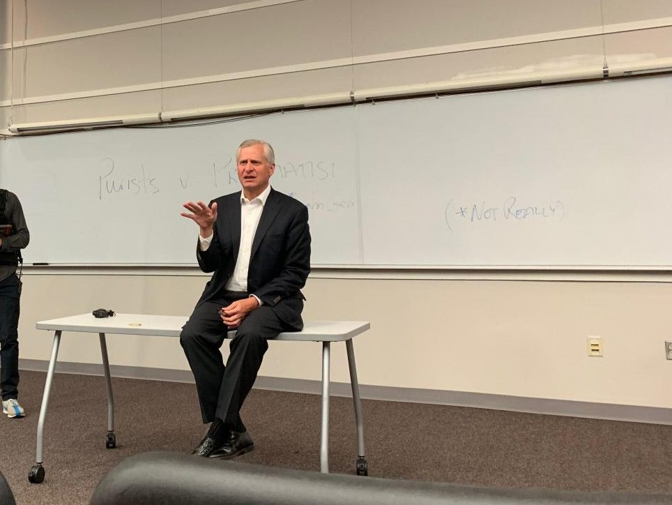 Professor Jon Meacham lectures in the