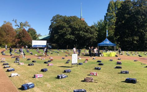 """Send Silence Packing"" display brings college suicide conversation to campus"