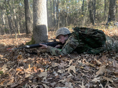 Benjamin Govan, a first-year attending Lipscomb, participates in a tactical lane. (Photo credit Brandon Haley)