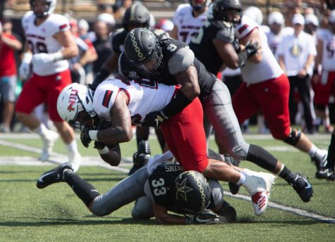 Commodores look to slow down Rebels' three-head rushing attack