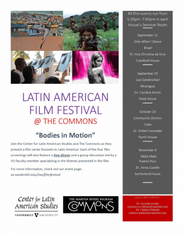 Flyer for Latin American Film Festival