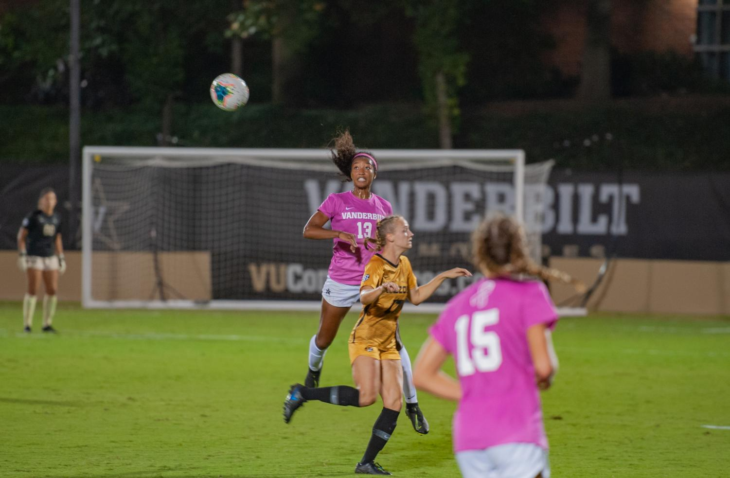 Vanderbilt soccer returned to strong home form, defeating Missouri 2-1 on Thursday night. Photo by Truman McDaniel