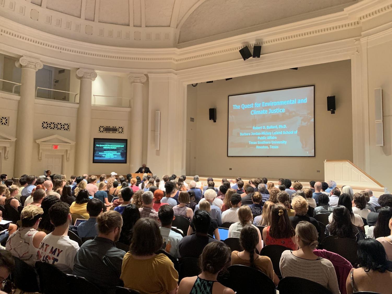 Lecture in Wyatt Rotunda (Photo by Adin McGurk)