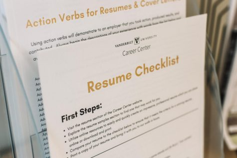 Resume checklist at the Career Center