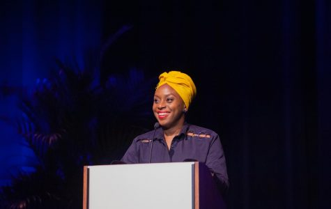 Chimamanda Ngozi Adichie speaks as part of the Chancellor's Lecture Series
